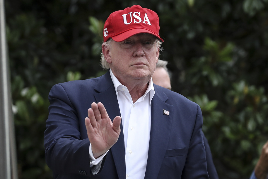 Trump: Jestem jest przekonany, że Meksyk będzie przestrzegać porozumienia ws. imigracji /Oliver Contreras/POOL /PAP/EPA