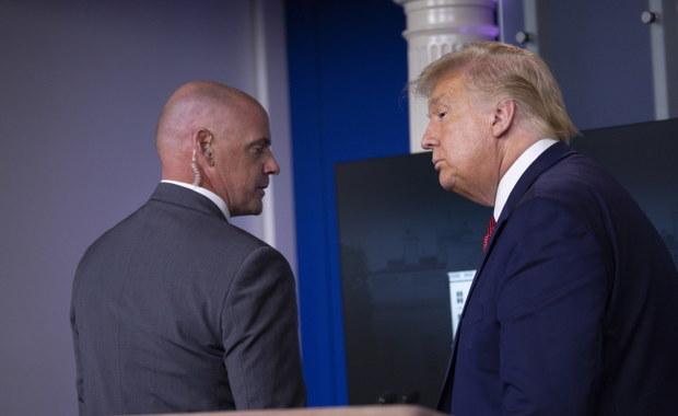 Trump nagle przerwał konferencję. Powodem niebezpieczna sytuacja
