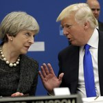 Trumpa i May wojna o Twittera