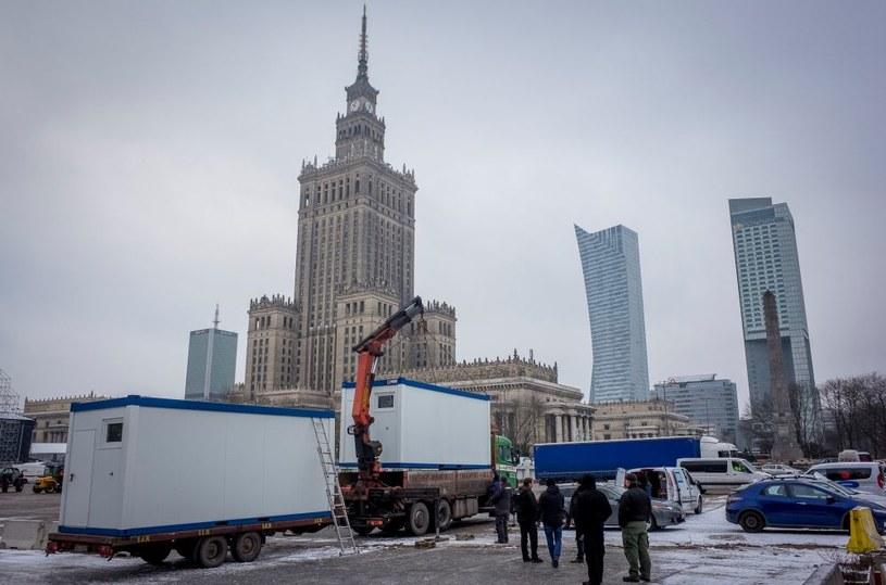 Trwa budowa finałowego miasteczka w Warszawie /wosp.org.pl