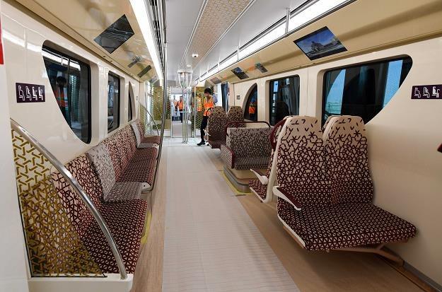 Trwa budowa metra w Dausze, stolicy Kataru. Nz. wagonik kolejki /EPA