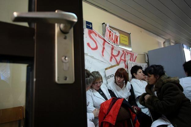 Trwa strajk w szpitalu w Koninie / fot. Tomasz Wojtasik /PAP