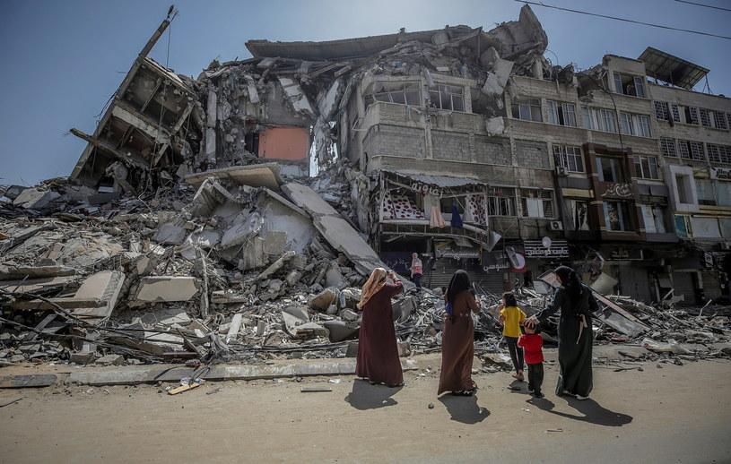 Trwa szacowanie szkód w Strefie Gazy /MOHAMMED SABER  /PAP/EPA