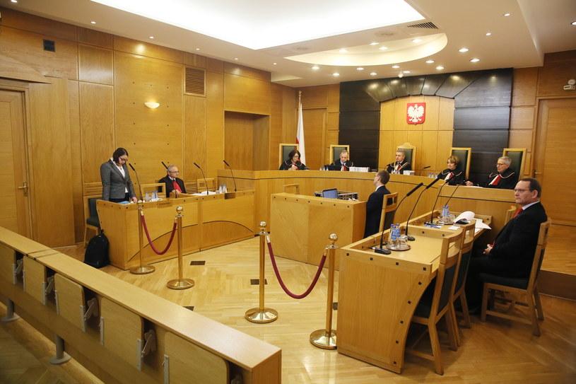 Trybunał Konstytucyjny w czasie dzisiejszej rozprawy /PAP
