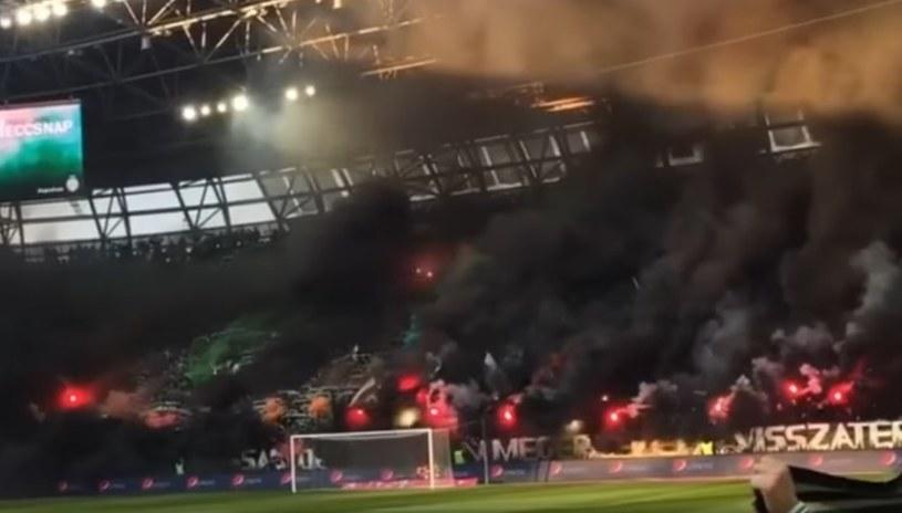 Trybuny podczas meczu Ferencvaros Budapeszt - VSC Debreczyn /