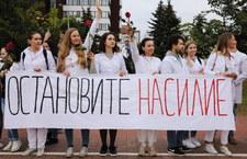 """""""Trzeba skończyć z biciem ludzi"""". Protest białoruskich medyków"""