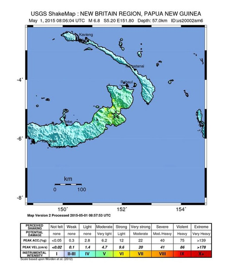 Trzęsienie zarejestrowano na głębokości 61 kilometrów /USGS /PAP/EPA