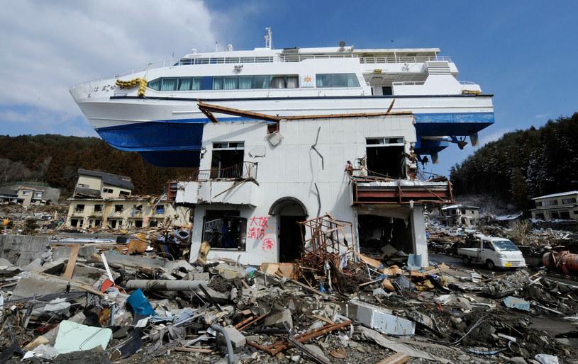 Trzęsienie ziemi, które uszkodziło elektrownię jądrową, spowodowało też potężne tsunami. /HO/AFP/East News /East News