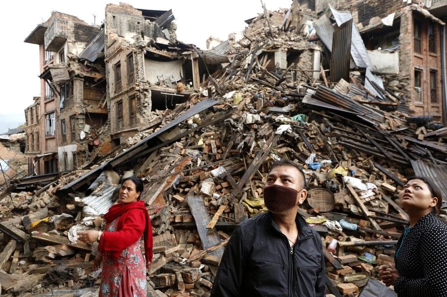 Trzęsienie ziemi miało siłę prawie 8 stopni w skali Richtera /ABIR ABDULLAH  /PAP/EPA