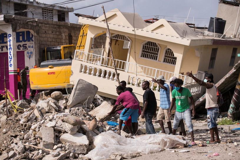 Trzęsienie ziemi na Haiti /ORLANDO BARRIA /PAP/EPA