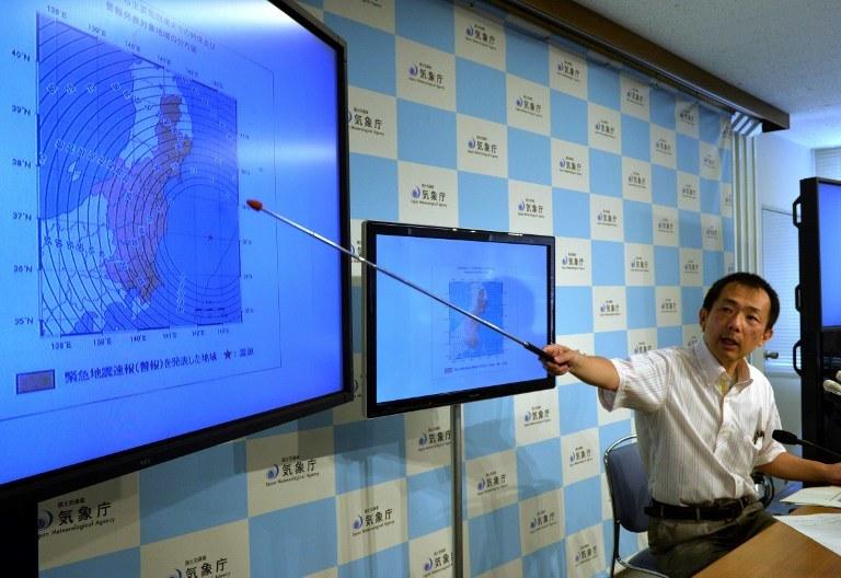 Trzęsienie ziemi o sile 6,8 w skali Richtera wystąpiło w sobotę rano czasu lokalnego na Pacyfiku, w pobliżu wschodniego wybrzeża Japonii /AFP