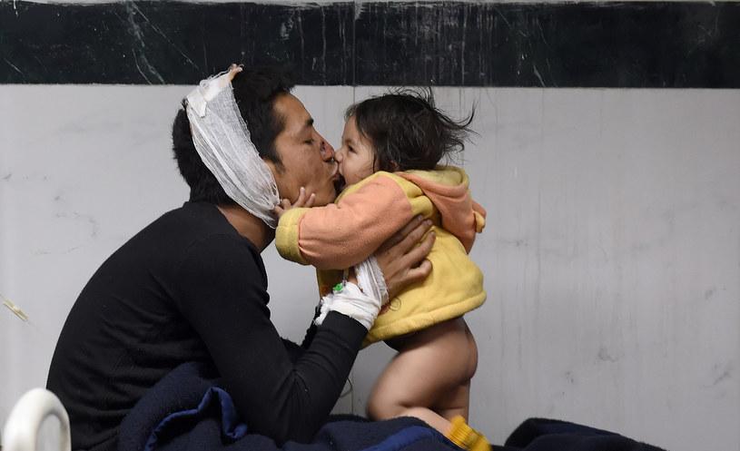 Trzęsienie ziemi pozbawiło tysiące ludzi domów /AFP