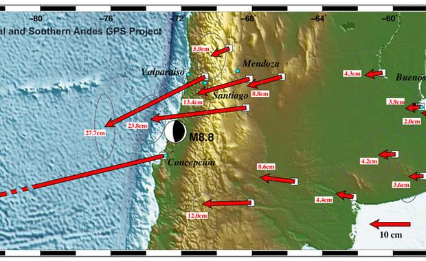 Trzęsienie ziemi w Chile przesunęło miasto o... trzy metry