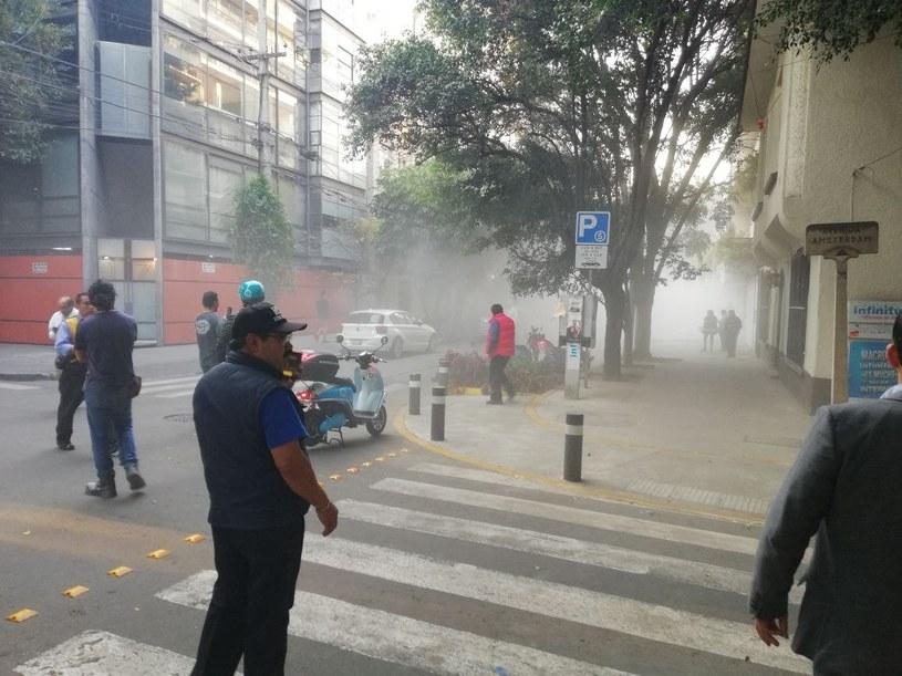 Trzęsienie ziemi w Meksyku /ZOILO CARRILLO /PAP/EPA
