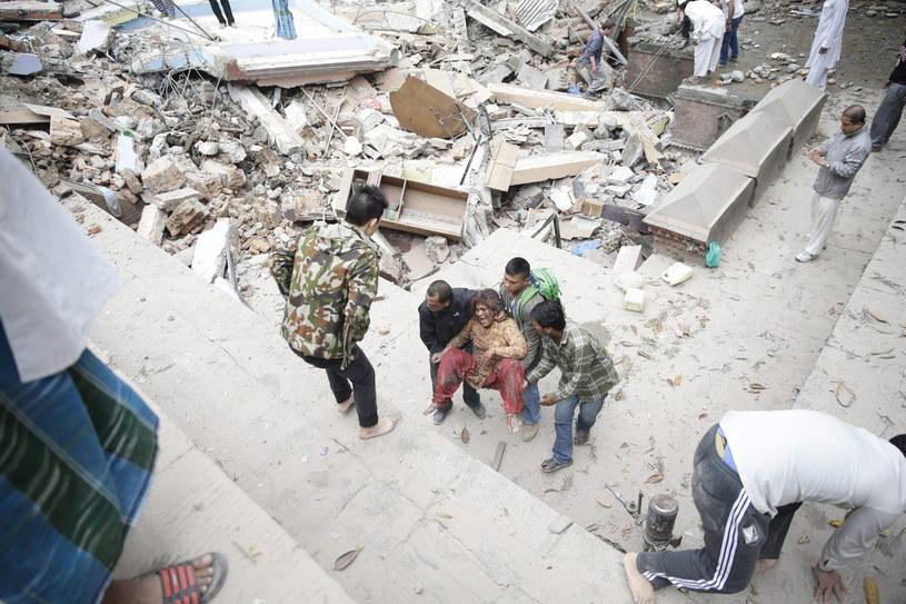 Trzęsienie ziemi w Nepalu /Narendra Shrestha /PAP/EPA