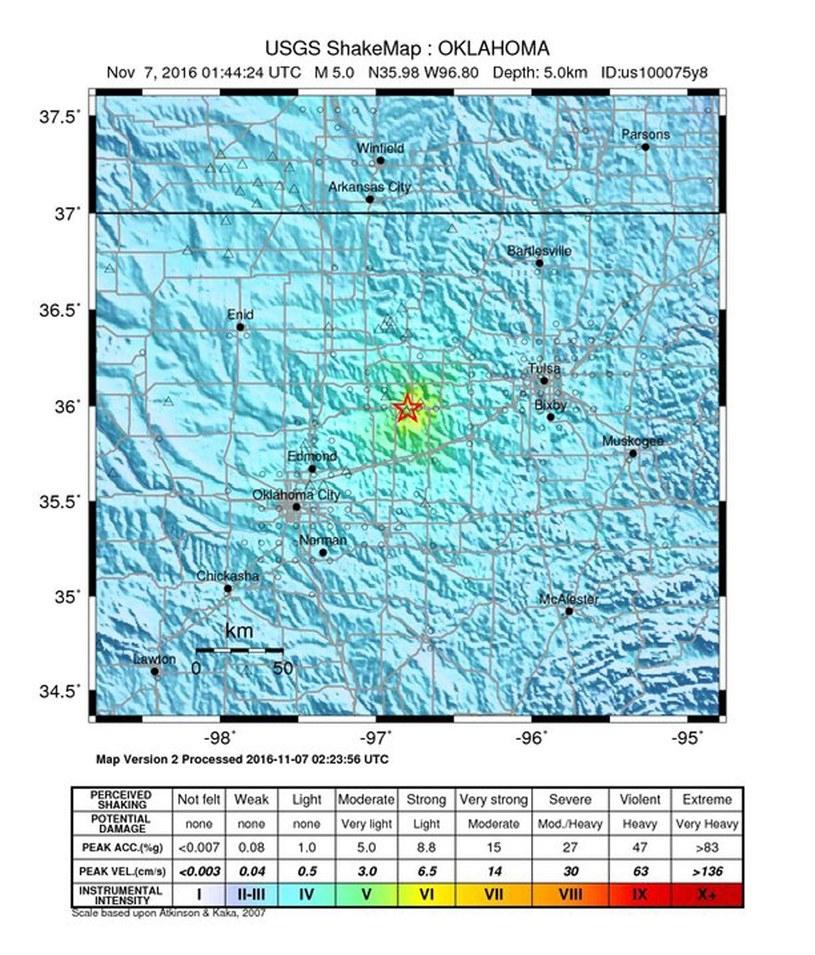 Trzęsienie ziemi w Oklahomie /PAP/EPA