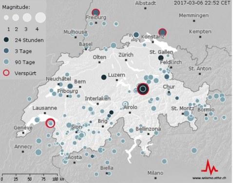 Trzęsienie ziemi w Szwajcarii /Twitter