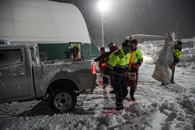 Trzęsienie ziemi wywołało lawinę w środkowych Włoszech /ANDREAS SOLARO / AFP /AFP