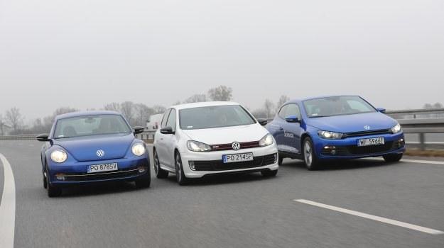 Trzy kompaktowe Volkswageny o różnych charakterach. /Motor