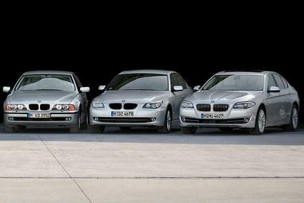 Trzy ostatnie generacje BMW serii 5 /