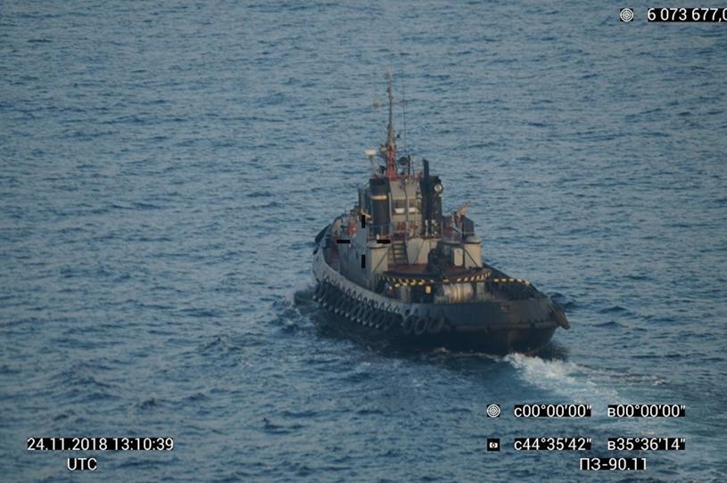 Trzy ukraińskie okręty zostały przejęte przez siły rosyjskie w Cieśninie Kerczeńskiej /SPUTNIK Russia /East News