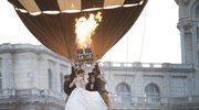 Trzykilometrowy tren sukni ślubnej nad Bukaresztem