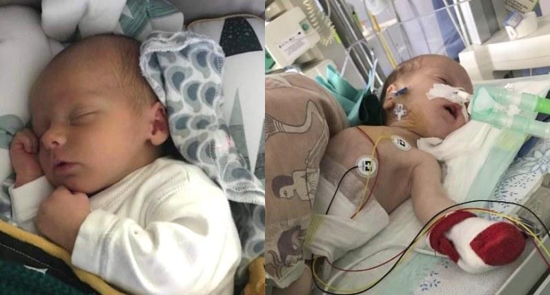 """Trzymiesięczny Staś cierpi na neuroblastomę. Potrzebna pomoc, fot. Fundacja Pomocy Dzieciom i Osobom Chorym """"Kawałek Nieba"""" /INTERIA.PL"""