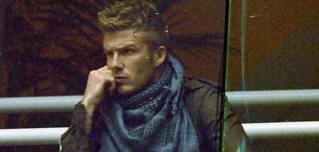 Tu akurat Beckham zakrył przedramię... - fot. Denis Doyle  /Getty Images/Flash Press Media