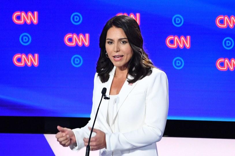 Tulsi Gabbard podczas debaty demokratów /JIM WATSON /AFP