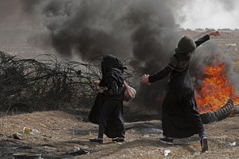 Tunel zniszczono w czasie, gdy w Strefie gazy trwają protesty /MOHAMMED SABER  /PAP/EPA