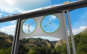 Turbiny wiatrowe pod mostami i wiaduktami to przyszłość