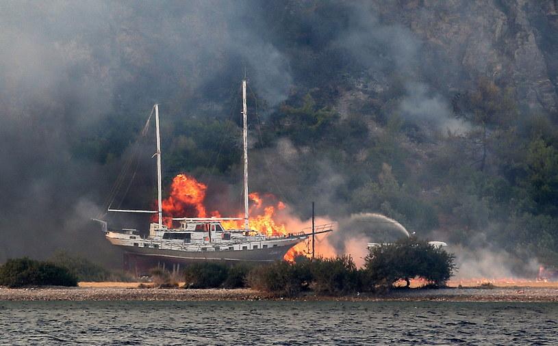Turcja. Walka z ogniem w prowincji Mugla /PAP/EPA/ERDEM SAHIN /PAP/EPA