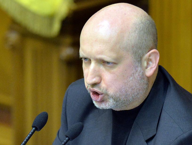 Turczynow ostrzega Rosję przed agresją wojskową /AFP