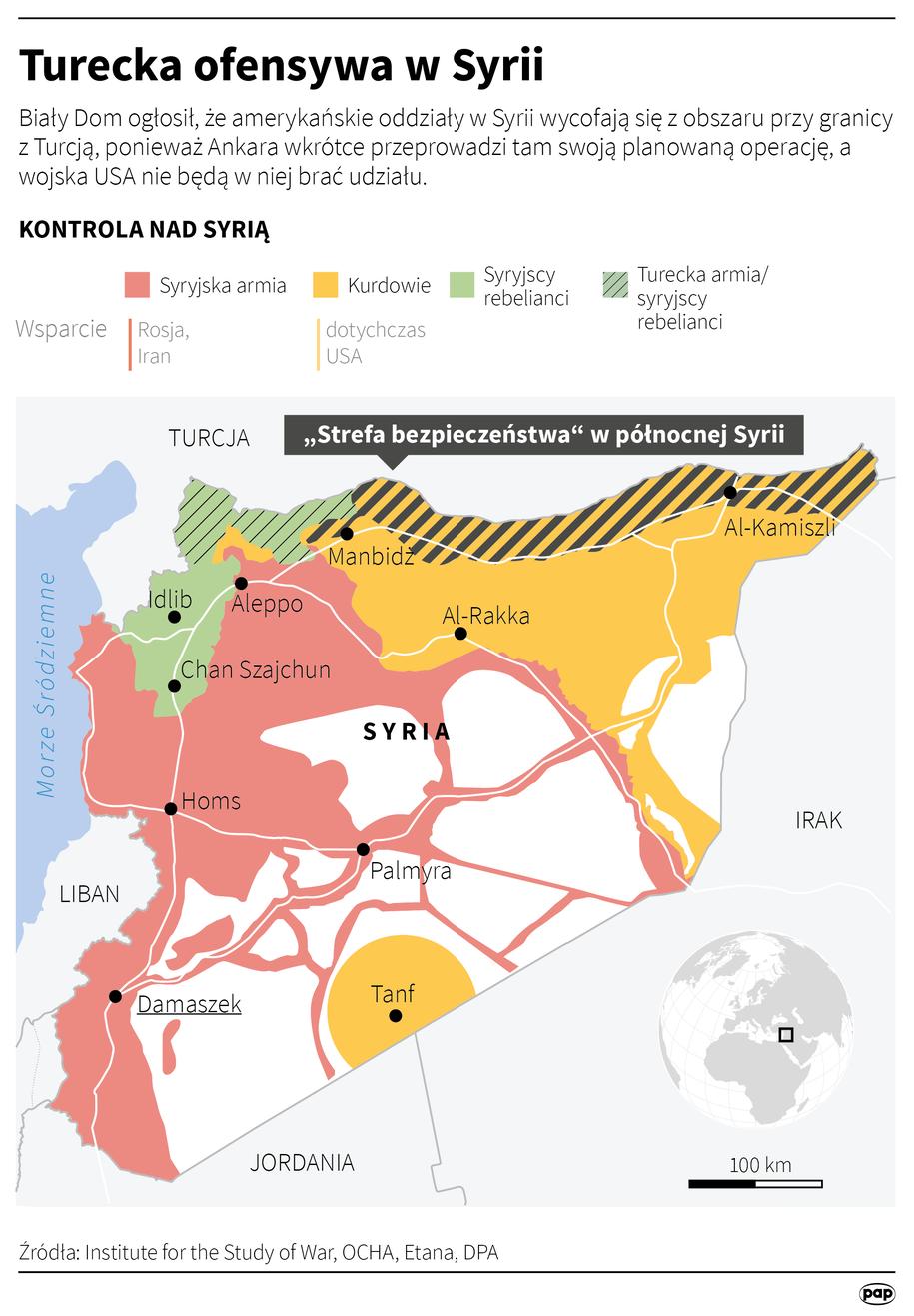 Turecka ofensywa w Syrii /PAP/REUTERS  - Maciej Zieliński /PAP