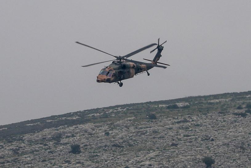Turecki helikopter, zdj. ilustracyjne /SEDAT SUNA /PAP/EPA