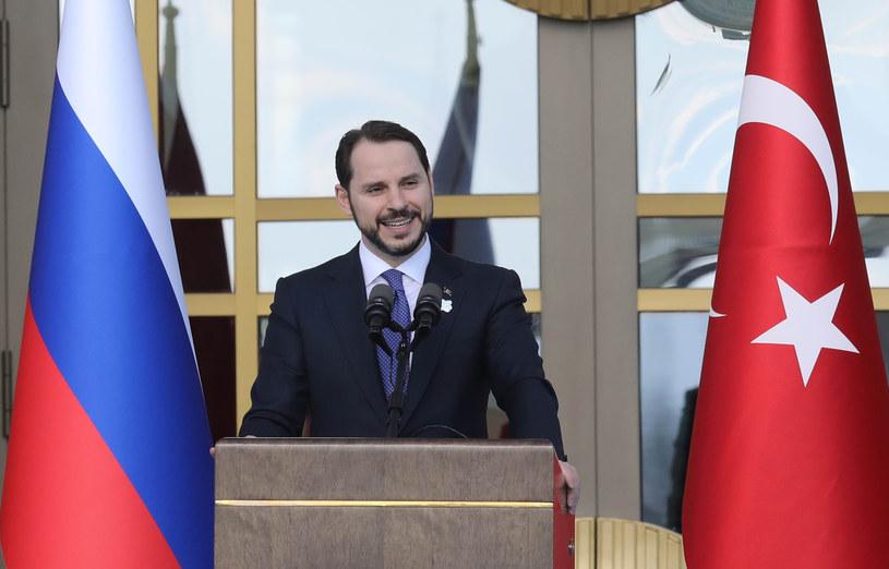 Turecki minister skarbu i finansów Berat Albayrak /ADEM ALTAN /AFP