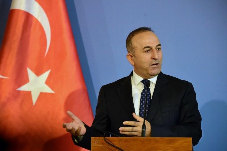 Turecki minister spraw zagranicznych Mevlut Cavusoglu /ATTILA KISBENEDEK / AFP /AFP