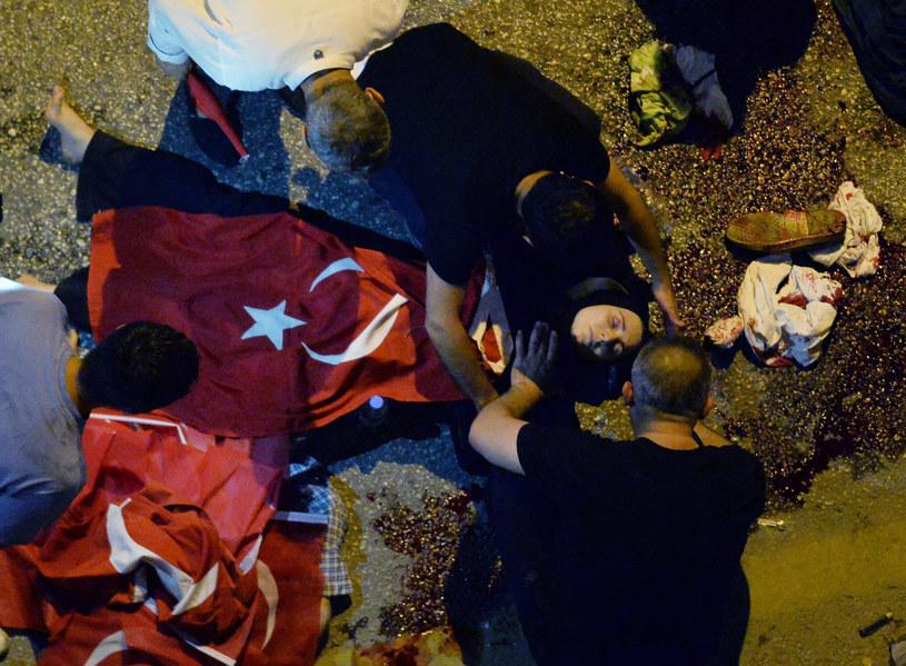 Turecki pucz pochłonął wiele ofiar /Agencja FORUM