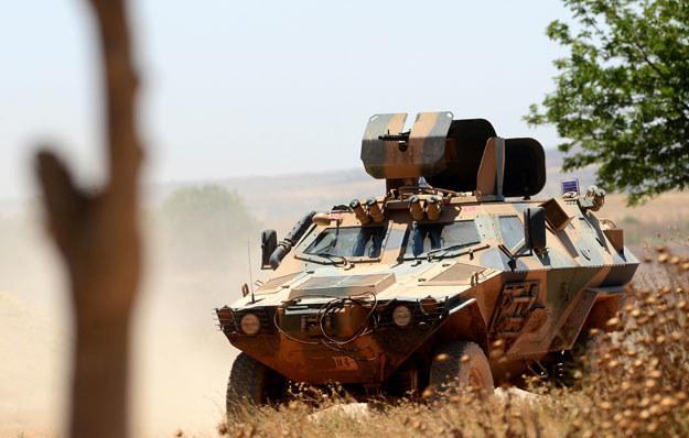 Tureckie wojska przy granicy z Syrią fot. Anadolu Agency /Getty Images