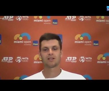 Turniej ATP. Hubert Hurkacz: Stać mnie na lepsze mecze niż z Andriejem Rublowem (POLSAT SPORT). Wideo