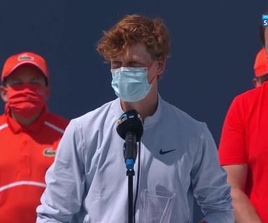 Turniej ATP w Miami. Jannik Sinner: Hubert jest moim najlepszym przyjacielem (POLSAT SPORT). Wideo