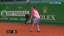 Turniej ATP w Monte Carlo. Hubert Hurkacz - Thomas Fabbiano. Pierwszy set wygrywa Polak (POLSAT SPORT). Wideo