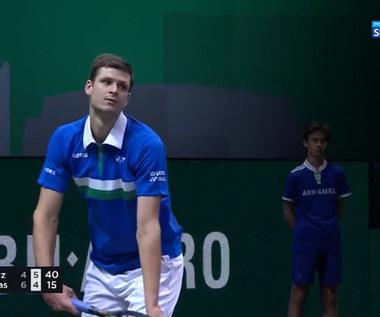 Turniej ATP w Rotterdamie. Hubert Hurkacz - Stefanos Tsitsipas 1:2. Skrót meczu (POLSAT SPORT). Wideo