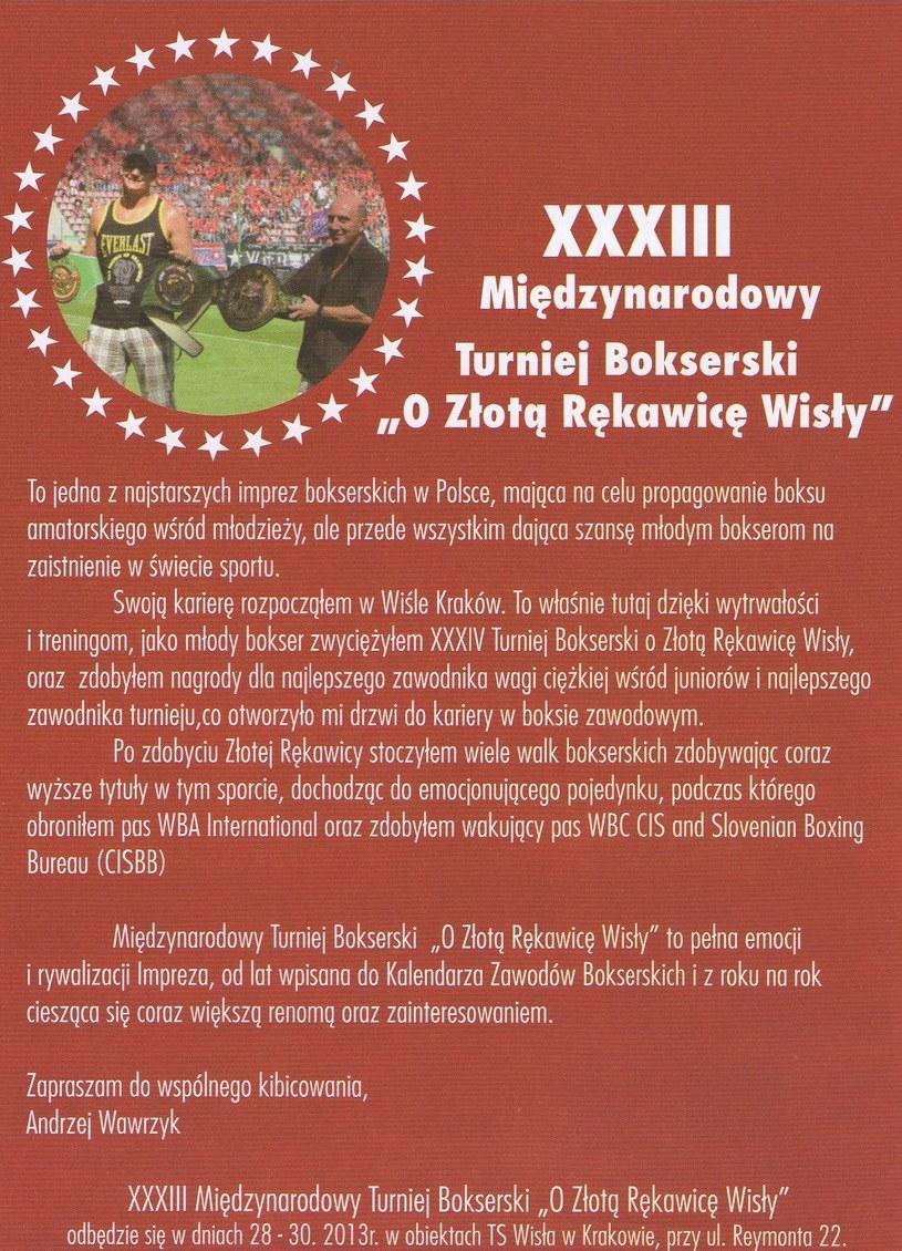 Turniej O Złotą Rękawicę Wisły to jedna z najstarszych imprez bokserskich w Polsce. /INTERIA.PL