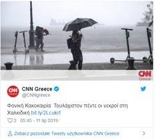 Turyści ofiarami burz i gradobicia w Grecji