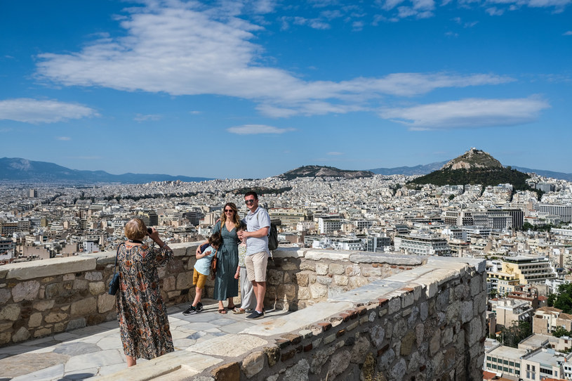 Turyści w Atenach /Byron Smith /Getty Images