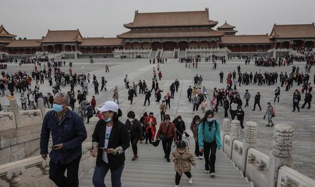 Turyści w Zakazanym Mieście w Pekinie /WU HONG /PAP/EPA