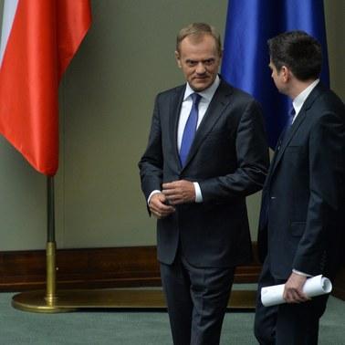 Tusk w Sejmie: Wystąpienie Kaczyńskiego zbudowane z samych kłamstw