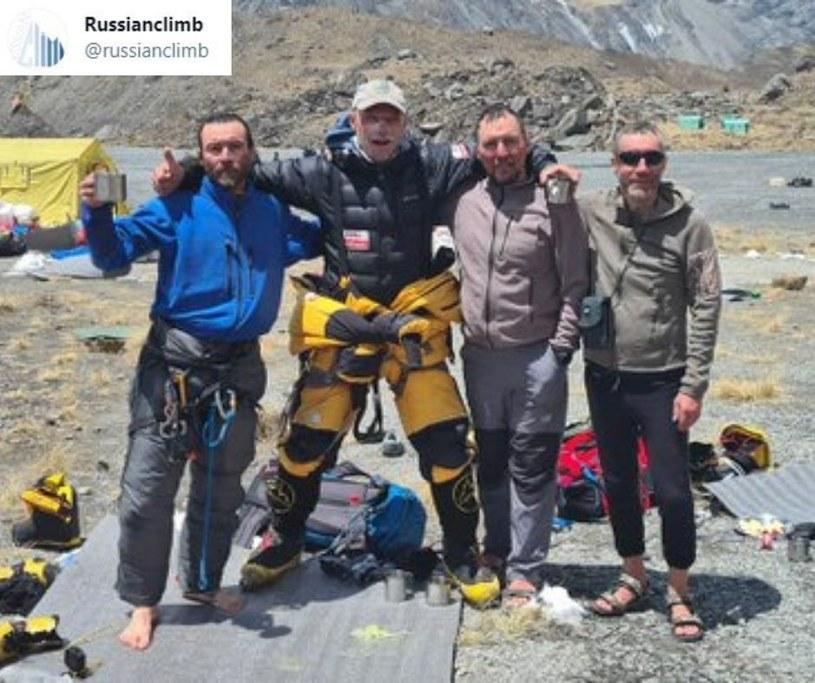 Tuż po akcji ratunkowej pod Annapurną/ Fot. Twitter: Russianclimb /