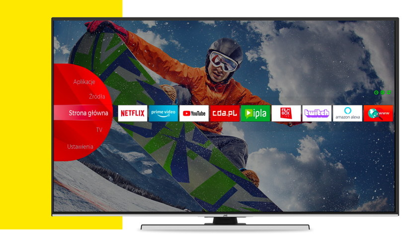 Twitch na modelu telewizora JVC /materiały prasowe